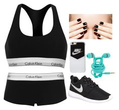 """""""do exercise"""" by clarisaguerra-243 on Polyvore featuring moda, Calvin Klein, NIKE y Agent 18"""
