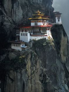 Tiger's Nest Monastery < how amazing would it be to travel there?!
