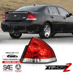 2006 2017 Chevy Impala Red Clear Penger Side Rear Brake Tail Lights Lamps