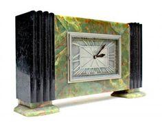 Superbe et importante pendule de forme moderniste d'epoque art deco vers 1925-30 crée par Léon Hatot ( 1883 -1953 )