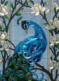 Magnificent Peacock Stained Glass Window Panel - my mom would love this! Glass Painting, Art, Mosaic Art, Glass Art, Peacock Art, Stained Glass Panels
