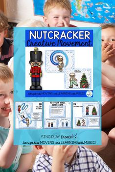 Music, P.E. and Classroom teachers will love using these directional movement cards based on the Nutcracker Ballet. Includes scarf and creative movement activities- a fun brain break or full class activity. #singplaycreate #creativemovement #preschoolactivities #preschoolholidayactivities #musicclass #musicclassacitivities #musiceducation #musicclasschristmas #holidaymusicclass #decembermusicclass