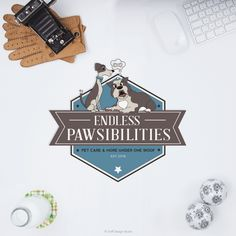 Dog Training Logo Design for Endless Pawsibilities #petbusinesslogo #petdesign #caninelogo #retro #mascots #illustration