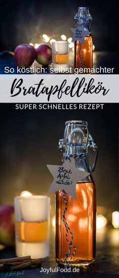 Recipe for a super delicious baked apple liqueur. Very quick and easy to make yourself. # Baked apple liqueur The post Delicious homemade baked apple liqueur quick recipe Quick Recipes, Easy Healthy Recipes, Quick Easy Meals, Christmas Mocktails, Easy Desserts, Dessert Recipes, Best Pumpkin, Liqueur, Schnapps