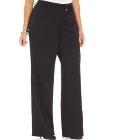 e710d080c8a Alfani Plus Size Two-Button Bootcut Pants - Pants   Capris - Plus Sizes…