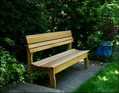 Garden bench.  I could try this at home.