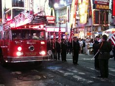 9/11 Memorial Fire Truck in the 10th Anniversary event in Times Square.  - Photo by Amy Laurel Hegy @A Tale of Two Tramps