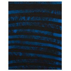 Black and blue, natural ochre pigment Australian Aboriginal Painting 1