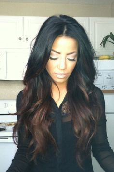 When my hair grows out just a little more I will get it pressed and have it dyed exactly like this.