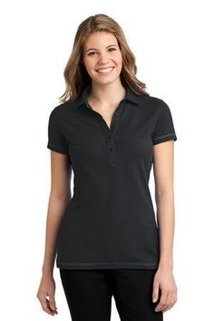 30513a7fd Amazon.com  Port Authority Ladies Modern Stain Resistant Polo L559  Boysenberry Pink  Clothing