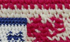 Interesting difference: Tapestry or Jacquard Crochet using shallow single crochet stitch