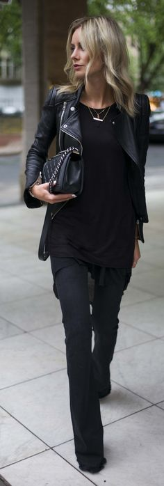 Probably one of my top five favorite outfits on here. #allblack #edgy #leather