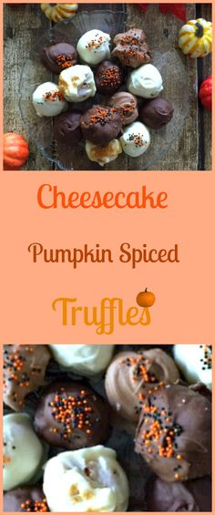 Cheesecake Pumpkin S Easy Desserts, Delicious Desserts, Dessert Recipes, Yummy Food, Edible Food, Incredible Recipes, Cheesecake Recipes, Food Network Recipes, Truffles