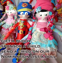 Babybonbons original doll for childhood cancer. www.beebravebuddies. we are not a non profit, but trying to put a doll in arms of children around the world with cancer. so far we have gifted 75 dolls in last 3 months.