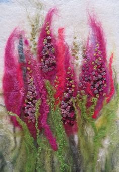 Textile Art 593982638340923981 - Artwork Portfolio – Lynn Comley's Portfolio Source by Needle Felting Kits, Needle Felting Tutorials, Needle Felted, Wool Felting, Art Fibres Textiles, Textile Fiber Art, Ornament Pattern, Wet Felting Projects, Felt Pictures