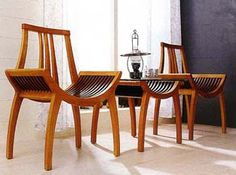 muebles de madera curvada