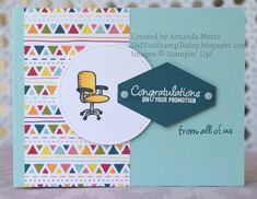Promotion Congratulations - Stampin' Up! Welcome to the Team Promotion Card, Welcome To The Team, Dots Candy, Birthday Cards For Him, Some Cards, Paper Pumpkin, Stamping Up, Stampin Up Cards, Business Ideas