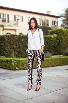 How to Wear Printed Pants if You Are Bottom Heavy: Glam Radar waysify