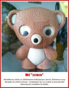 "Miś ""zezolek"", mam taki sam w zielonym kolorze Poland People, Poland Country, Good Old Times, My Childhood Memories, Retro, School Projects, Nostalgia, The Past, Old Things"