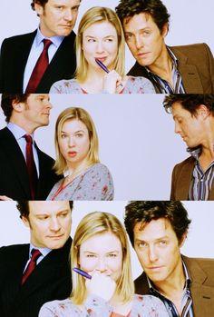 Bridget Jones's Diary (2001) starring Colin Firth, Renee Zellweger & Hugh Grant - story based on Jane Austen's Pride & Prejudice