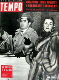 """Tyrone Power and Linda Christian: """"Just married"""" (29th January 1949)."""