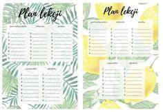 PLANY LEKCJI W LETNIM KLIMACIE DO POBRANIA | moje IDEALIA - blog lifestylowy, DIY, wnętrza, ciąża i macierzyństwo, uroda, kuchnia School Timetable, Harry Potter Tumblr, Bujo, Everything, Back To School, Diy, How To Plan, Pictures, Bullet Journal