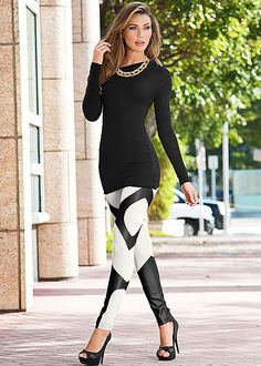 These leggings were made to catch everyone's attention. Venus faux leather insert legging. Sizes 2-16!