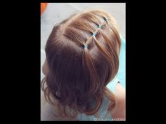 How to: Feathered Elastic - Toddler Hairstyle Tutorial - Brown Haired Bliss - YouTube