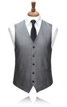 Torre Grey Mohair Morning Suit Waistcoat