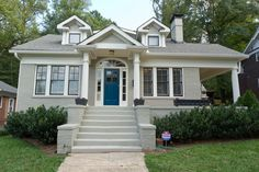 gray exterior house paint ideas - the space between blog