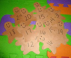 Gingerbread Cookie Number Recognition Matching Game