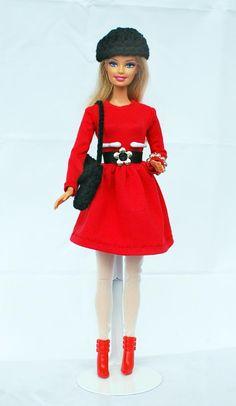 Puppenkleidung - Kleidung passend für Barbie mit Schuhen - ein Designerstück von shopmauselke bei DaWanda
