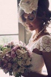 Bird cage veil wedding