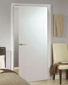 White Primed Florida 5 Panel Internal Door #whiteprimeddoors