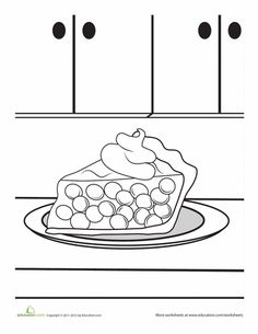 Food Coloring Pages Printables