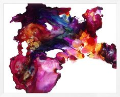 Abstract Creation. Resembles Finger Painting - Red, Pink, Violet, Blue, Yellow
