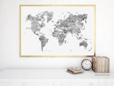 Custom quote printable world map with country names and us states custom quote printable world map with country names and us states names newlyweds gift custom map premade color map map140 061 newlywed gifts gumiabroncs Image collections
