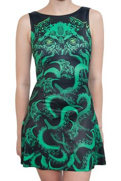 Cthulhu Play Dress (Size S) by Black Milk Clothing