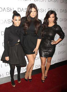 THE KARDASHIAN SISTERS IN BLACK