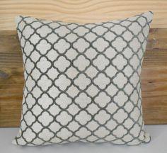 Velvet gray quatrefoil geometric decorative by pillowflightpdx, $32.00