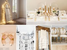 white and gold wedding perfect for New Year's Day!
