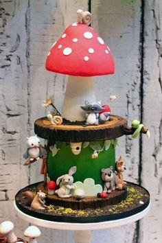 Sharon Joiner uploaded this image to 'Supermum Cakes/Woodland Theme'.  See the album on Photobucket.
