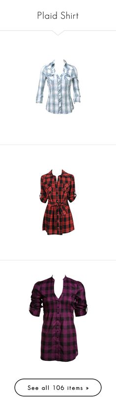 """Plaid Shirt"" by kerstinxx ❤ liked on Polyvore featuring tops, shirts, plaid, blusas, camisas, blue top, tartan shirt, tartan plaid shirt, tartan top and plaid shirt"