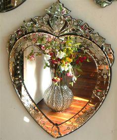 Venetian Heart Mirror