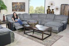 Mor Furniture for Less: The Austin Graphite Reclining Living Room | Mor Furniture for Less
