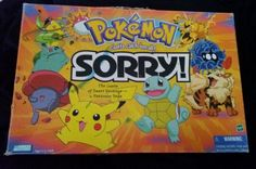 Sorry! Pokemon Edition Board Game COMPLETE Parker Brothers Hasbro 2000 (SOLD)