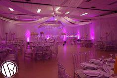 Restyling van zaal. Plafond, wanden, sfeerverlichting en weddingsstage