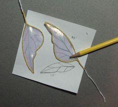 The Fairies Nest - OOAK Cloth Dolls & Fiber Fantasies: Wing Tutorial at Last!