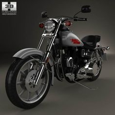 Harley-Davidson FXS Low Rider 1980 3d model from humster3d.com. Price: $75