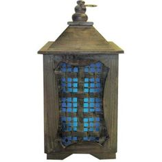 $40 15 in. Solar Temple Lantern with Blue Light-R1209LBX at The Home Depot